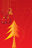 Vector cristmas candles. With red motif background Royalty Free Stock Images