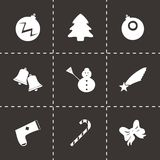 Vector cristmas icons set Stock Photo