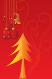 Vector cristmaskaarsen Royalty-vrije Stock Afbeeldingen