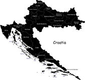 Vector Croatia map Royalty Free Stock Photography