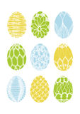 Vector Crochet Easter Eggs Royalty Free Stock Photo