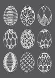 Vector Crochet Easter Eggs Stock Image