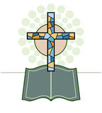 Vector Cross & Bible Religious Royalty Free Stock Images