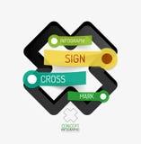 Vector cross shape infographic concept Stock Photos