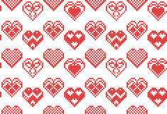 Vector cross stitch embroidery seamless Royalty Free Stock Photo