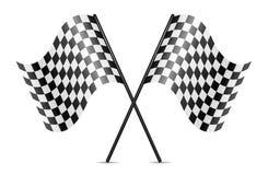 vector crossed racing flags Stock Photo