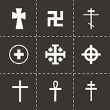 Vector crosses icons set Royalty Free Stock Photo