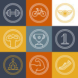 Vector crossfit and fitness logos and emblems Stock Photo
