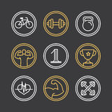 Vector crossfit logos and emblems Royalty Free Stock Photography
