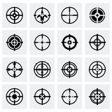 Vector Crosshair icon set Stock Image