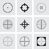 Vector crosshair icons set Royalty Free Stock Photo