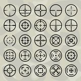 Vector  crosshairs set Stock Image