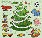 Vector crossword, education game for children about Christmas pr Royalty Free Stock Images