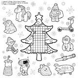 Vector crossword, education game for children about Christmas Stock Image
