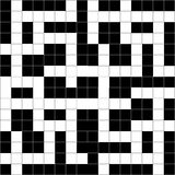 Vector Crossword Puzzle Abstract. Royalty Free Stock Photography