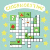 Vector crossword puzzle royalty free illustration