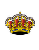Vector crown Royalty Free Stock Photography
