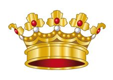 Vector crown. A golden crown. Vector illustration Stock Photo