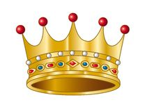 Vector crown. A golden crown. Vector illustration Royalty Free Stock Photos