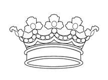 Vector crown. Black and white crown. Vector illustration Royalty Free Stock Photos