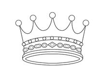 Vector crown. Black and white crown. Vector illustration Stock Images