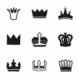 Vector crown icon set Royalty Free Stock Photo