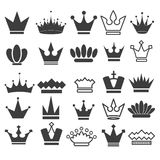 25 Vector crown icons set, stock vector illustration. Eps 10 royalty free illustration