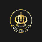 Vector crown logos set. Luxury corona monograms design. Diadem icons illustrations. Used for hotel, restaurant card etc. Stock Photos