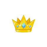 Vector crown for a prince. Decorative royal design element isolated on a white background Royalty Free Stock Photography