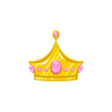 Vector crown for a princess. Decorative royal design element isolated on a white background Royalty Free Stock Image