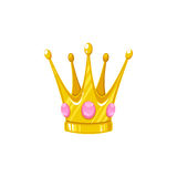 Vector crown for a princess. Decorative royal design element isolated on a white background Royalty Free Stock Photos