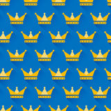 Vector crown seamless pattern Stock Photo