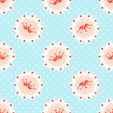 Vector crown seamless pattern Royalty Free Stock Image