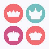 Vector crowns Royalty Free Stock Images