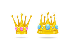 Vector crowns Stock Images