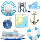 Vector Cruise Icons Royalty Free Stock Photography