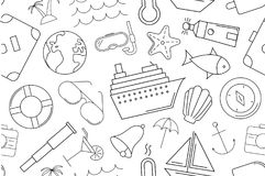 Vector Cruise pattern. Cruise seamless background. Vector illustration Royalty Free Stock Photos