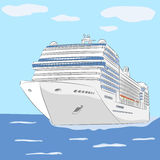 Vector. Cruise ship. Royalty Free Stock Images