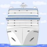 Vector. Cruise ship. Stock Photography