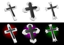 Vector cruzado cristiano metálico Fotos de archivo libres de regalías