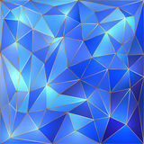 Vector crystal blue and gold lattice background Royalty Free Stock Image