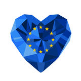 Vector crystal gem jewelry flag of  the European Union. Royalty Free Stock Photography