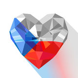 Vector crystal gem jewelry heart of the Czech Republic. Royalty Free Stock Photography