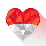 Vector crystal gem jewelry heart of  the Principality of Monaco. Stock Image
