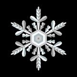 Vector crystal snowflake on a contrast background royalty free illustration