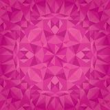 Vector Crystal Triangles Texture Seamless Pattern magenta rosado Diseño superficial festivo y que brilla intensamente de la repet Foto de archivo