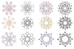 Vector crystals set royalty free illustration