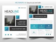 Vector cuadrado abstracto azul de la plantilla del diseño del folleto del informe anual Cartel infographic de la revista de los a libre illustration