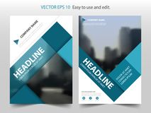 Vector cuadrado abstracto azul de la plantilla del diseño del informe anual del folleto Cartel infographic de la revista de los a ilustración del vector
