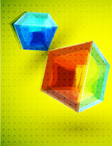 Vector cube background Royalty Free Stock Photos